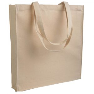 Borsa shopper cotone 180gr con o senza soffietto
