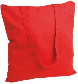 Borsa cotone pesante con zip di chiusura