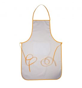 Grembiule cucina promozionale con tasca e bordi colorati