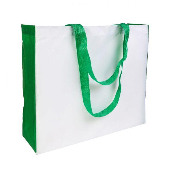 Shopper poliestere soffietti e manici colorati