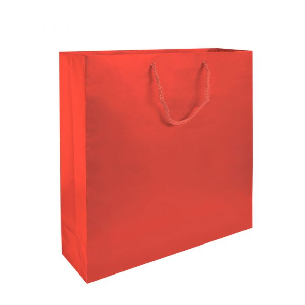 Shopper in carta laminata opaca manico in cordino