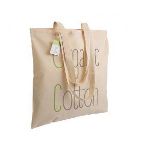 Borsa cotone organico manici lunghi