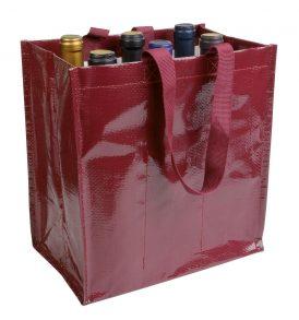 Borsa polipropilene per sei bottiglie