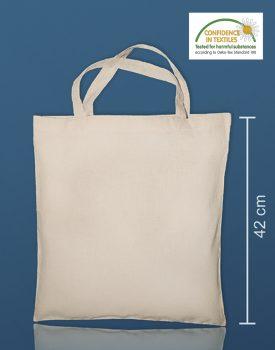 Borsa cotone mini farmacia certificata Confidence in textiles - Borsa e shopper cotone e canvas Borsa in cotone con manici corti. Tessuto interno con cuciture per evitare il restringimento. certificata Confidence in textiles
