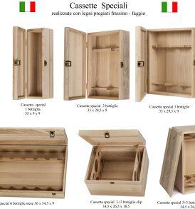 Cassetta in legno speciali per bottiglie made in Italy