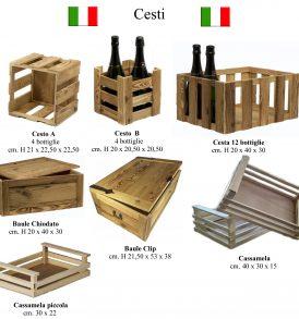 Cesti e bauli in legno made in Italy