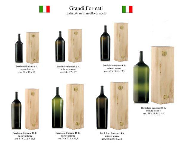 Cassetta in legno made in Italy grandi formati