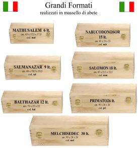 Cassetta in legno made in Italy bollicine