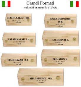 Cassetta in legno made in Italy bollicine