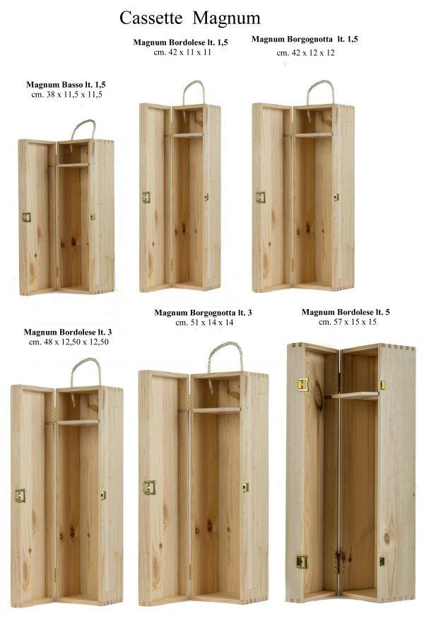Cassetta in legno per Magnum Bordolese e Borgognotta