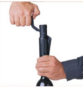 Cavatappi bottiglie vino con salvagoccia e taglia capsula