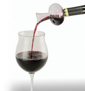 Ossigenatore vino in vetro soffiato