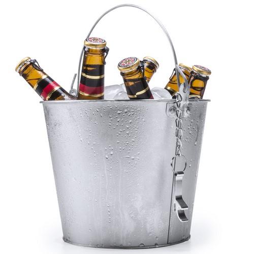 Secchiello ghiaccio per bottiglie con apribottiglie
