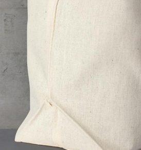 Borsa cotone con manici corti e manici lunghi