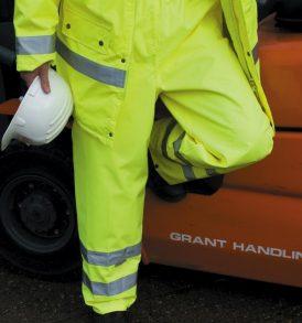 Pantalone alta visibilità anti vento impermeabile