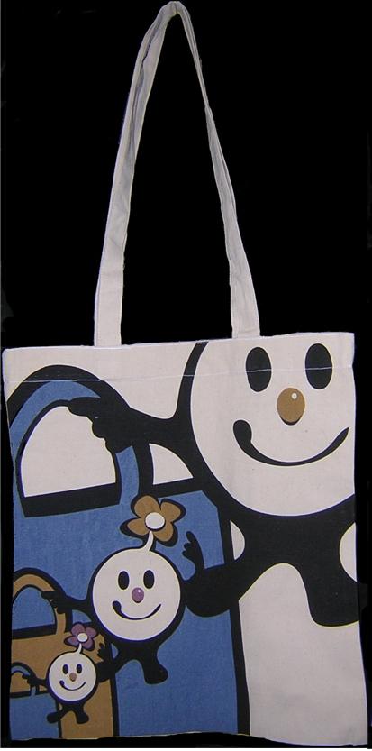 Shopper promozionale di cotone con stampa logo a colori