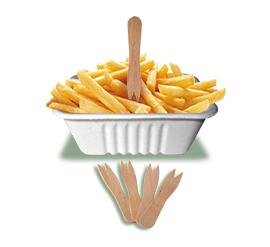 Forchettina in legno per patatine
