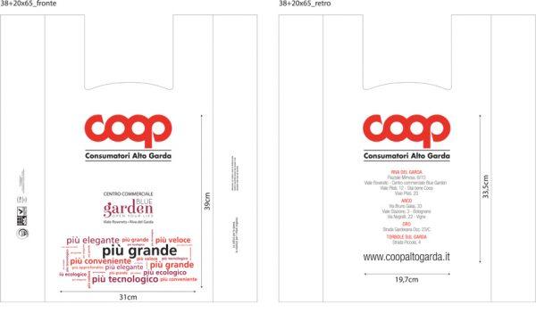 Shopper Biodegradabile Compostabile personalizzata con logo del cliente 100kg
