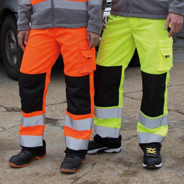Pantalone da lavoro alta visibilità riflettente