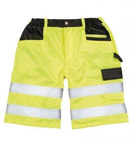 Pantalone corto da lavoro alta visibilità riflettente