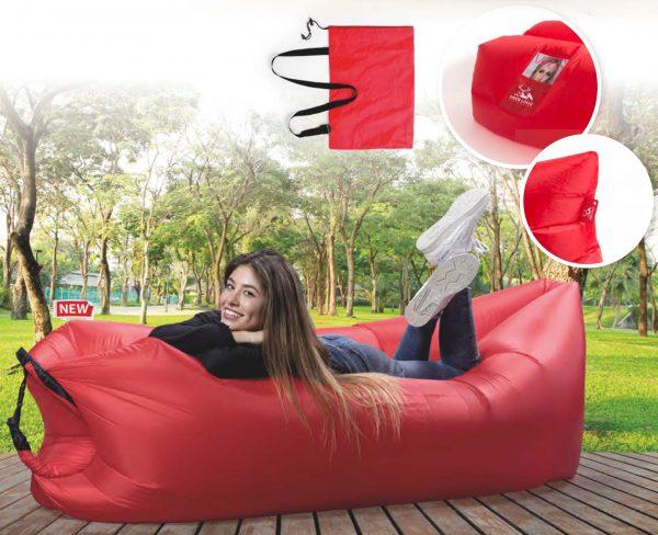 Airpouf gonfiabile con aria in Ripstop con tasca esterna