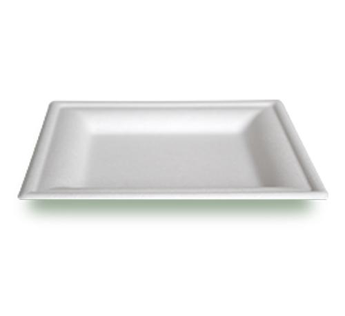 Piatto piano quadrato polpa di cellulosa