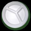 Bio piatto biscomparto e triscomparto biodegradabile