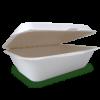 Bio contenitore cibo rettangolare monouso coperchio incernierato
