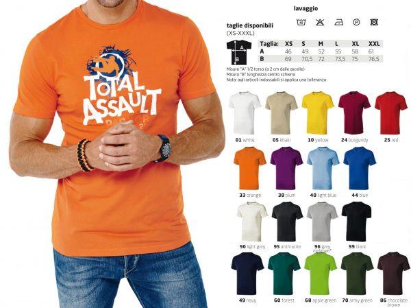 T-shirt uomo jersey cotone
