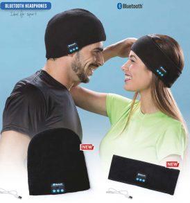 Auricolari Bluetooth fascia e berretto sport