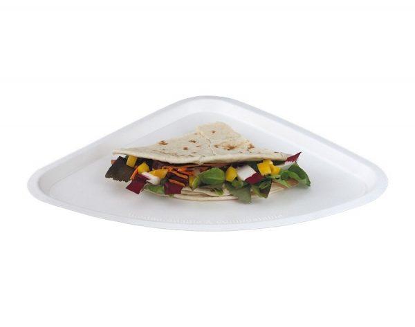 Piatto pizza o piadina triangolare bio
