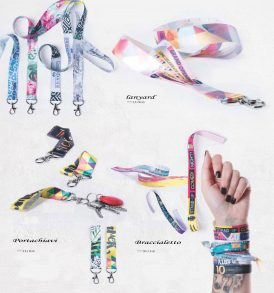 Lanyard portachiavi braccialetto stampati con tuo logo
